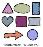hand draw border  | Shutterstock .eps vector #420806497