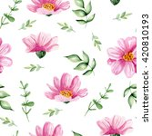 seamless white pattern with... | Shutterstock . vector #420810193