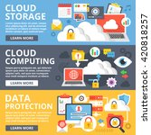 cloud storage  cloud computing  ... | Shutterstock .eps vector #420818257