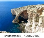 the blue grotto. | Shutterstock . vector #420822403