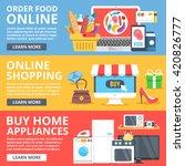 order food online  online... | Shutterstock .eps vector #420826777