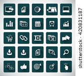 seo services icons | Shutterstock .eps vector #420831187