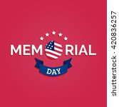 vector happy memorial day card. ... | Shutterstock .eps vector #420836257