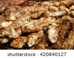 food meat on grill | Shutterstock . vector #420840127