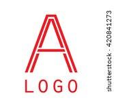 logo a letter. isolated on... | Shutterstock .eps vector #420841273