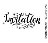 invitation  card hand drawn... | Shutterstock .eps vector #420841993