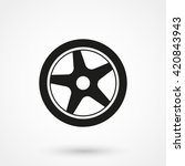 wheel icon isolated on... | Shutterstock .eps vector #420843943
