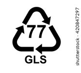 glass recycling code 77 gls .... | Shutterstock .eps vector #420847297