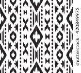 black and white navajo seamless ...   Shutterstock .eps vector #420849973