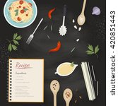 vector cooking time... | Shutterstock .eps vector #420851443