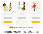 business characters set.... | Shutterstock .eps vector #420853213