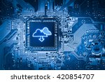 cloud storage   security... | Shutterstock . vector #420854707