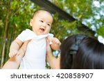 Asian Mother And Baby In The...