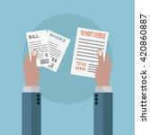 unpaid bills  payment overdue...   Shutterstock .eps vector #420860887