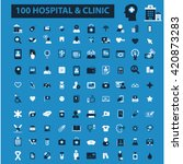 hospital clinic icons | Shutterstock .eps vector #420873283