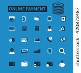 online payment icons | Shutterstock .eps vector #420873487