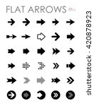 flat arrow icons set  modern... | Shutterstock .eps vector #420878923