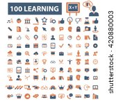 learning icons | Shutterstock .eps vector #420880003