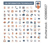 information technology icons | Shutterstock .eps vector #420880027