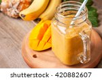 Smoothie With Tropical Fruits ...