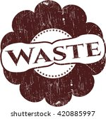 waste rubber stamp | Shutterstock .eps vector #420885997