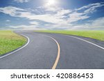 roads curve with green grass... | Shutterstock . vector #420886453