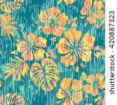 hawaiian pattern seamless... | Shutterstock .eps vector #420887323
