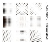 black halftone dots set.... | Shutterstock .eps vector #420894847