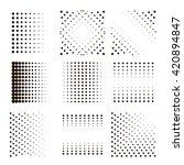 black halftone dots set.... | Shutterstock .eps vector #420894847