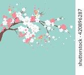 cherry branch | Shutterstock .eps vector #420896287