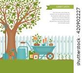 concept of gardening. garden... | Shutterstock .eps vector #420902227