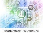 smart city  smart building ... | Shutterstock . vector #420906073