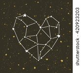 starlit heart on the dark night ... | Shutterstock .eps vector #420923203