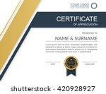 vector certificate template. | Shutterstock .eps vector #420928927