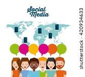 mobile social media  design  | Shutterstock .eps vector #420934633