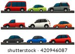 different type of cars... | Shutterstock .eps vector #420946087