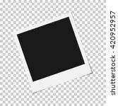 Постер, плакат: Blank photo polaroid frame