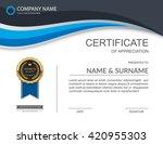 vector certificate template. | Shutterstock .eps vector #420955303
