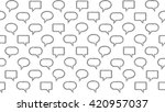 seamless pattern of text frames ... | Shutterstock . vector #420957037