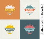 summer holidays retro... | Shutterstock .eps vector #420957073