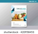 flyer leaflet brochure template ... | Shutterstock .eps vector #420958453