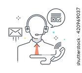 color line  customer service... | Shutterstock .eps vector #420969037