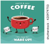 vintage coffee poster design... | Shutterstock .eps vector #420979753