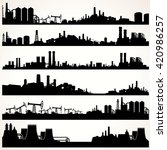 abstract industrial skyline set.... | Shutterstock . vector #420986257