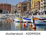 Boats In The Port Of Nice In...