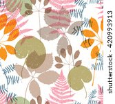 floral seamless pattern with... | Shutterstock .eps vector #420993913