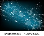 abstract blue geometrical... | Shutterstock .eps vector #420995323