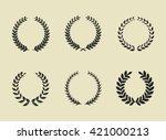 wreaths icon.  | Shutterstock .eps vector #421000213