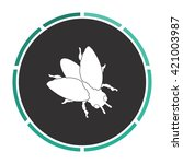 insect simple flat white vector ...