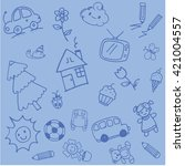 design doodle art for kids with ...   Shutterstock .eps vector #421004557